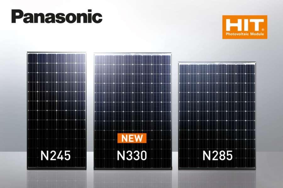 Zonnepanelen van Panasonic in drie maten