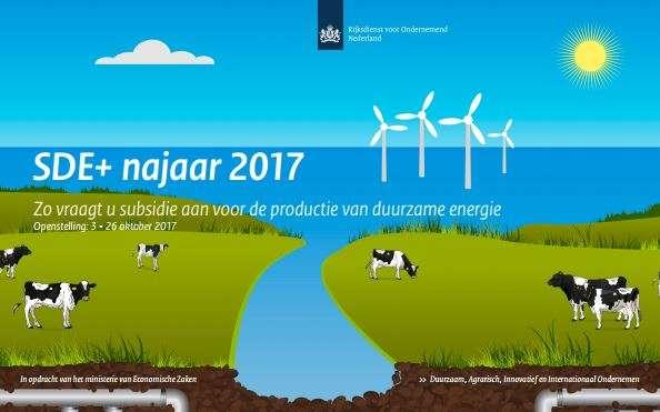 SDE+ subsidie najaar 2017