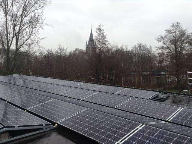 Zonnepanelen op een Dorpshuis in Nes aan de Amstel