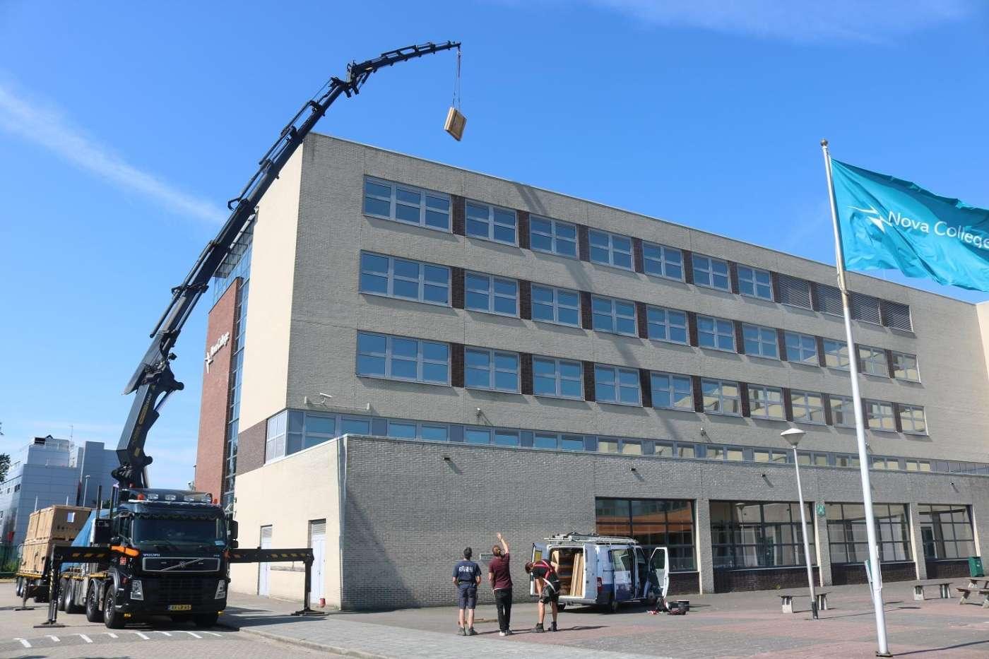 Zonnepanelen op Nova College Haarlem